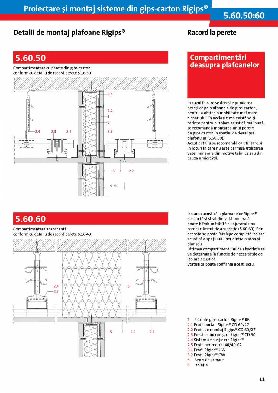 Pagina 11 - Proiectare si montaj sisteme din gips-carton - Plafoane Rigips Saint-Gobain Rigips...