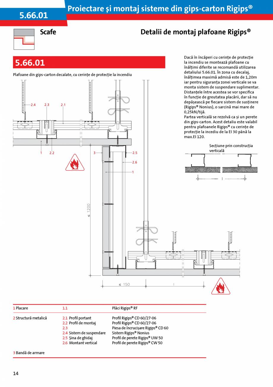 Pagina 14 - Proiectare si montaj sisteme din gips-carton - Plafoane Rigips Saint-Gobain Rigips...