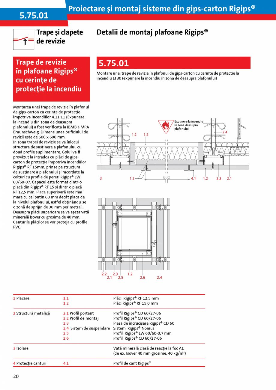 Pagina 20 - Proiectare si montaj sisteme din gips-carton - Plafoane Rigips Saint-Gobain Rigips...
