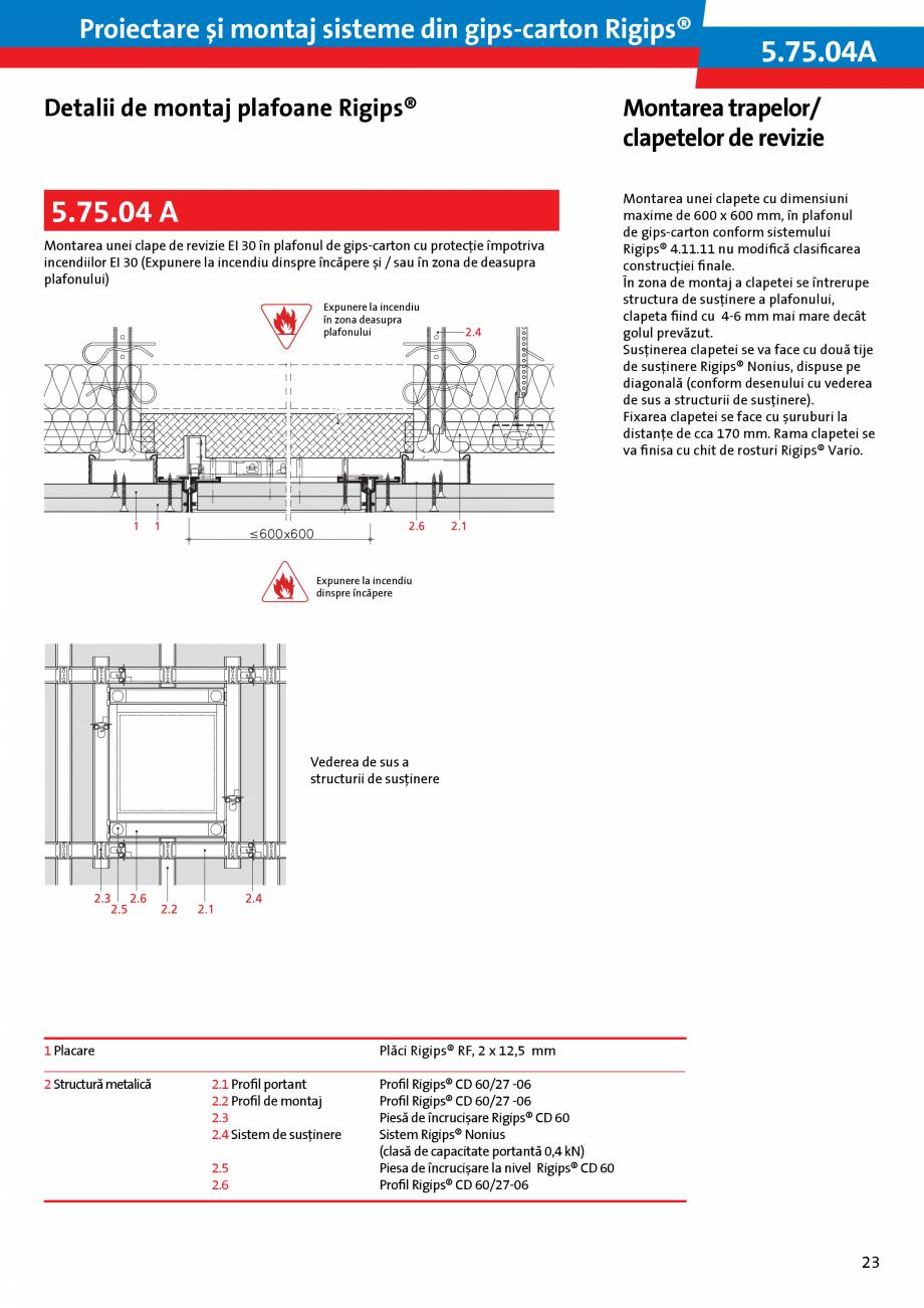 Pagina 23 - Proiectare si montaj sisteme din gips-carton - Plafoane Rigips Saint-Gobain Rigips...