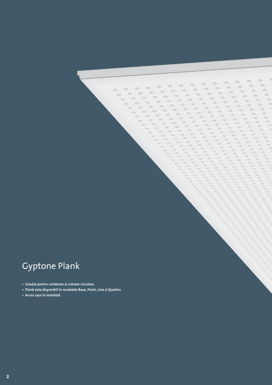 Pagina 2 - Plafoane casetate Saint-Gobain Rigips GYPTONE® PLANK Catalog, brosura Romana      0...