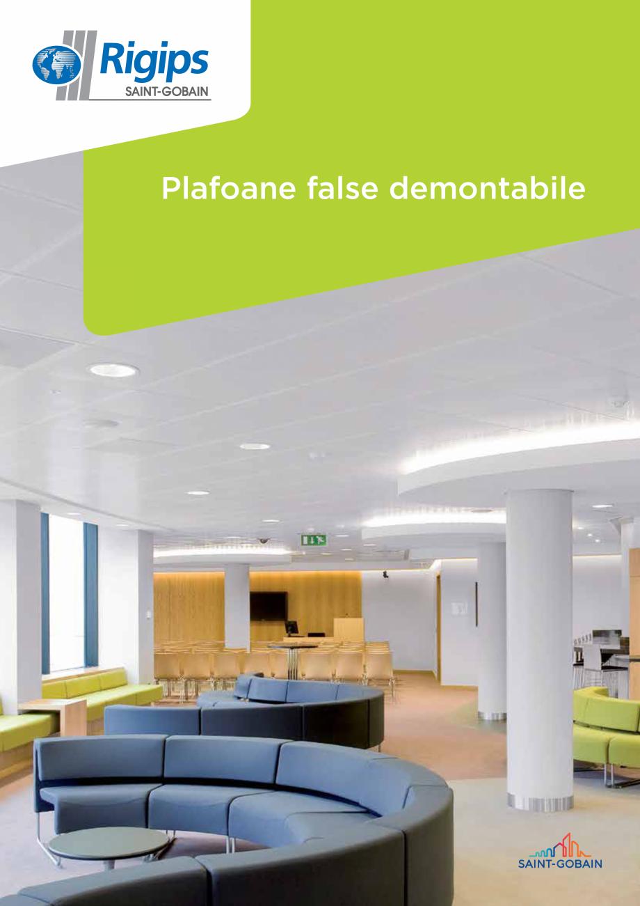 Pagina 1 - Plafoane false demontabile 2019 Saint-Gobain Rigips Catalog, brosura Romana Plafoane...