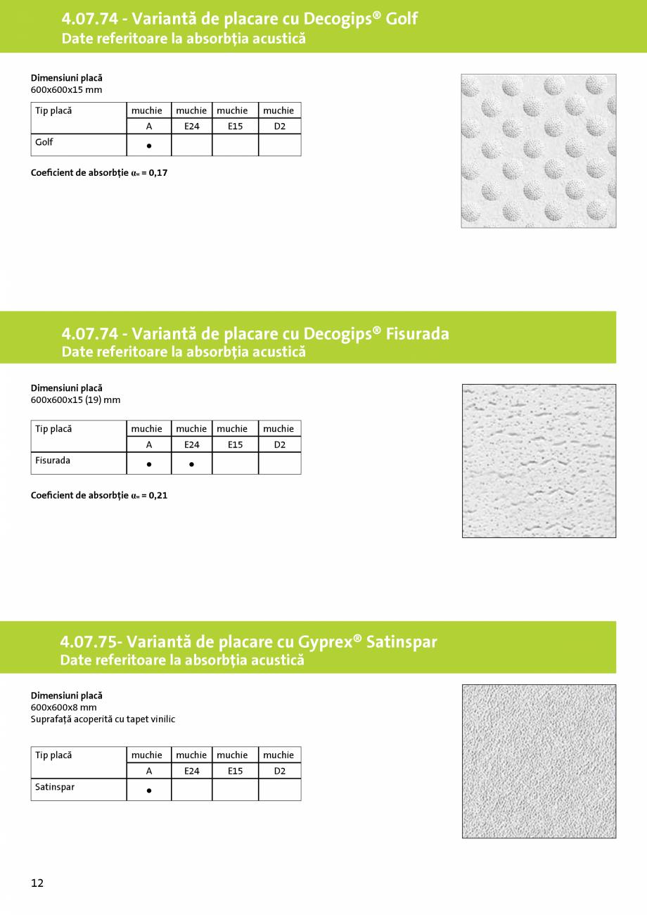 Pagina 8 - Plafoane false demontabile pe structura metalică din profile T cu placi casetate - 4.07....