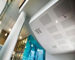 Plafoane casetate - estetica si functionalitate Plafoanele Rigips® indeplinesc cele mai exigente pretentii in domeniul acusticii si al design-ului, asigurand o inalta absorbtie fonica si o mare libertate de  design.