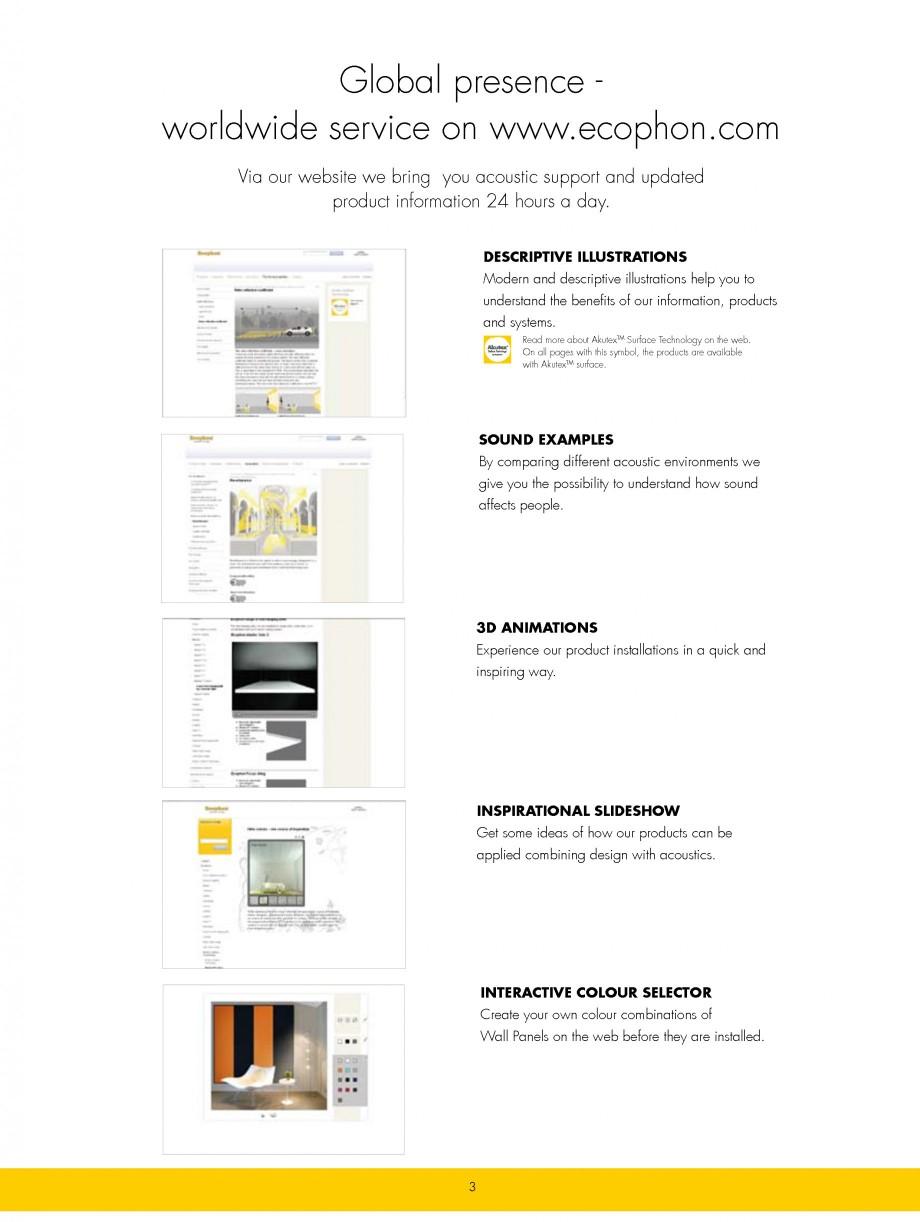 Pagina 3 - Plafoane casetate ECOPHON Ecophon Catalog, brosura Engleza  own colour combinations of...