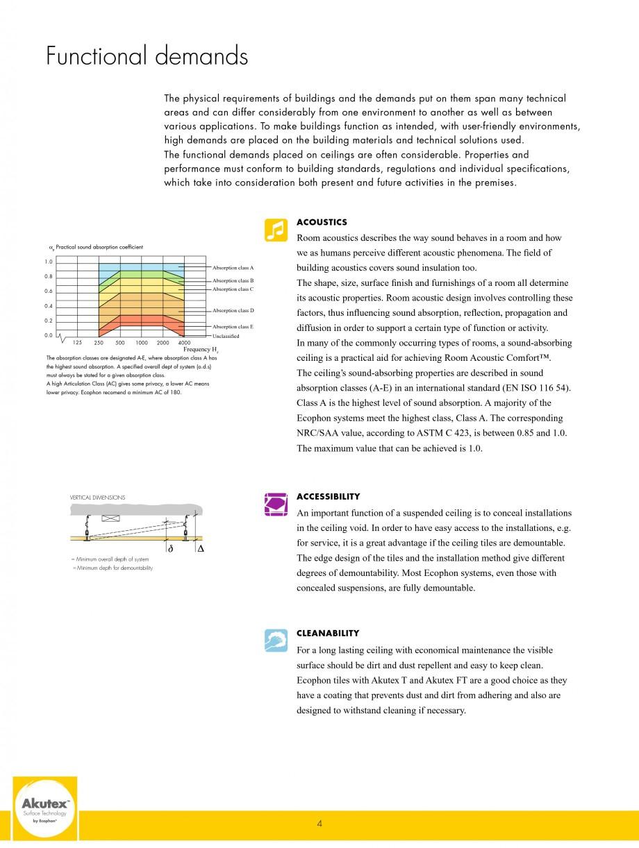 Pagina 4 - Plafoane casetate ECOPHON Ecophon Catalog, brosura Engleza  field of building acoustics ...