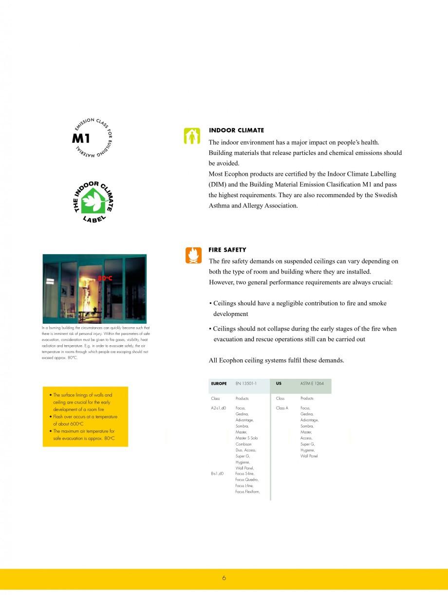 Pagina 6 - Plafoane casetate ECOPHON Ecophon Catalog, brosura Engleza ave a coating that prevents...