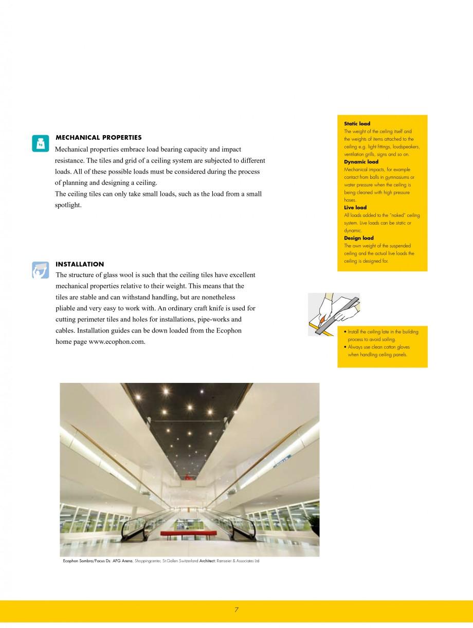 Pagina 7 - Plafoane casetate ECOPHON Ecophon Catalog, brosura Engleza ol. The absorption of...