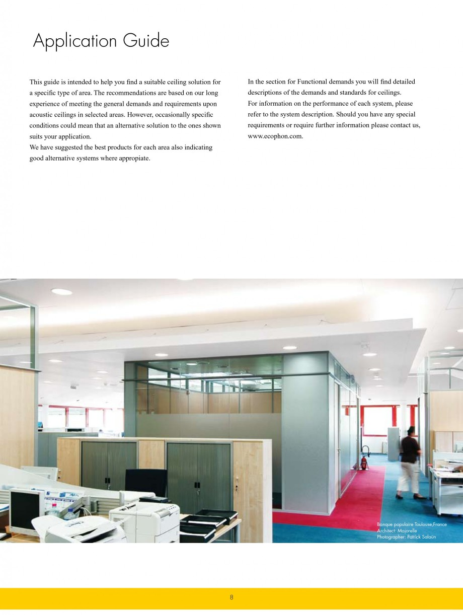 Pagina 8 - Plafoane casetate ECOPHON Ecophon Catalog, brosura Engleza rtified by the Indoor Climate...