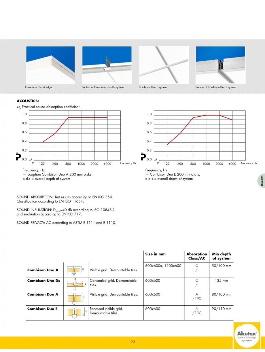Pagina 23 - Plafoane casetate ECOPHON Ecophon Catalog, brosura Engleza ophon Master Solo S...