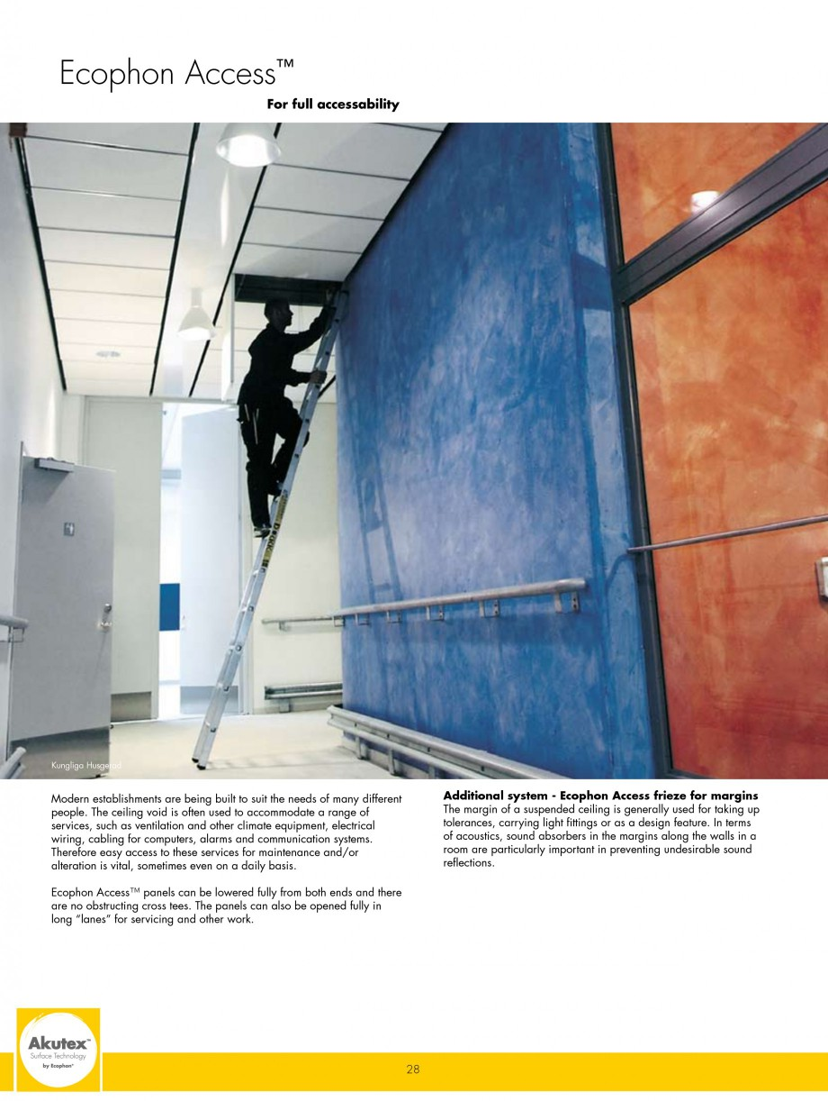 Pagina 28 - Plafoane casetate ECOPHON Ecophon Catalog, brosura Engleza e for installation as a full...