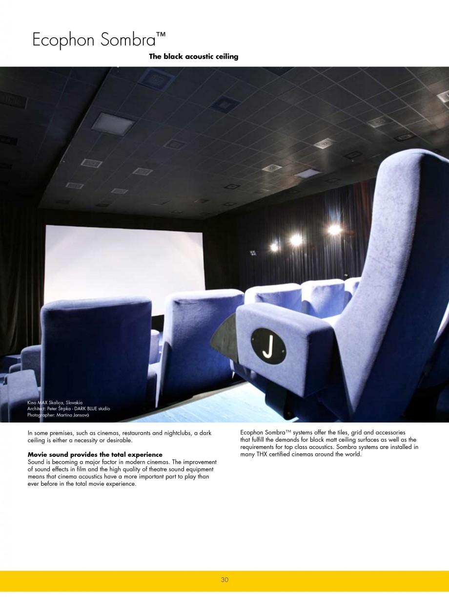 catalog brosura plafoane casetate ecophon ecophon plafoane casetate estetica si. Black Bedroom Furniture Sets. Home Design Ideas