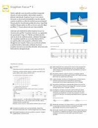 Plafon suspendat Ecophon Focus™ E