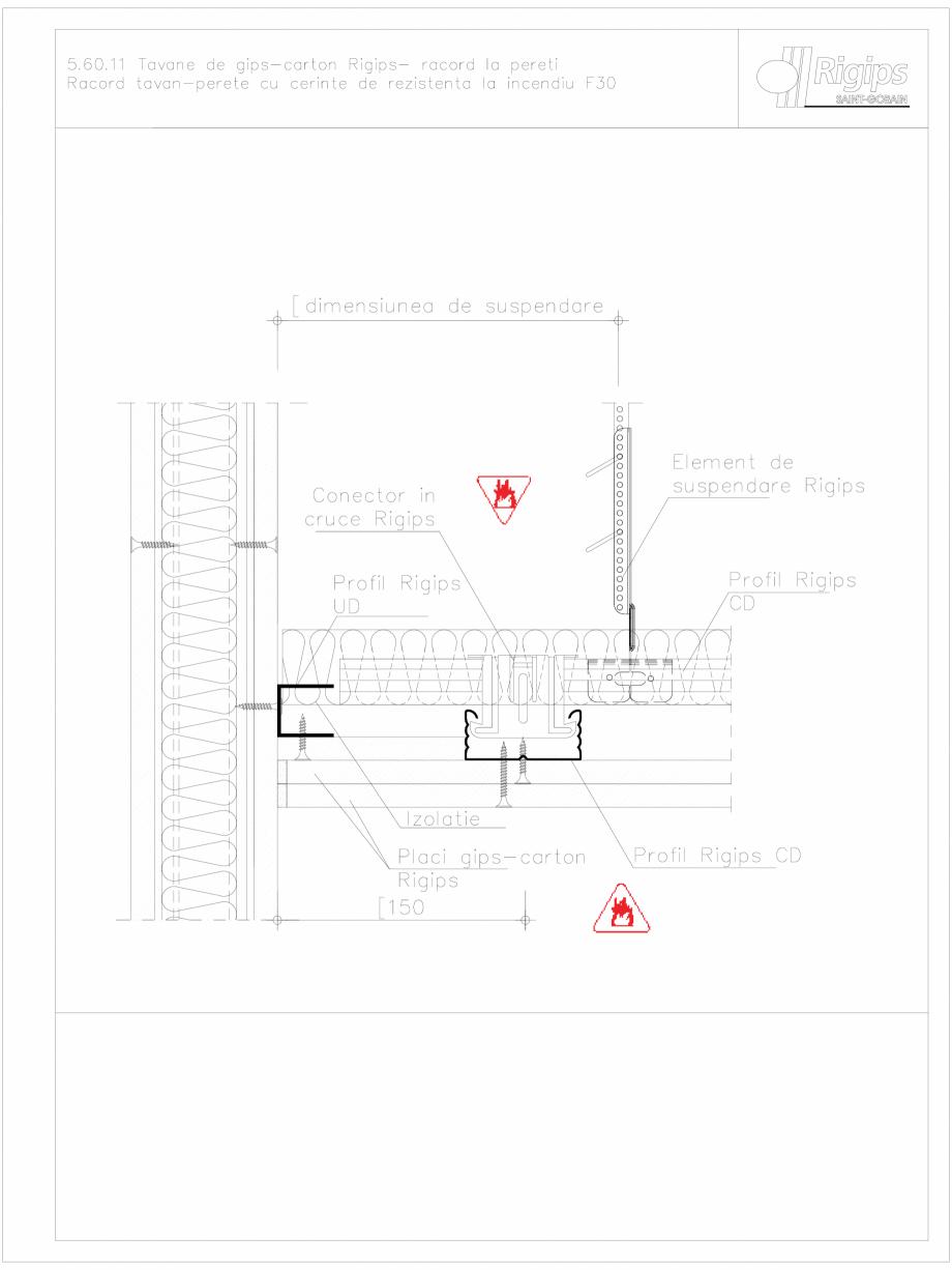 Pagina 1 - CAD-DWG Tavane de gips-carton Rigips- racord la pereti 5.60.11 - foc Saint-Gobain Rigips ...
