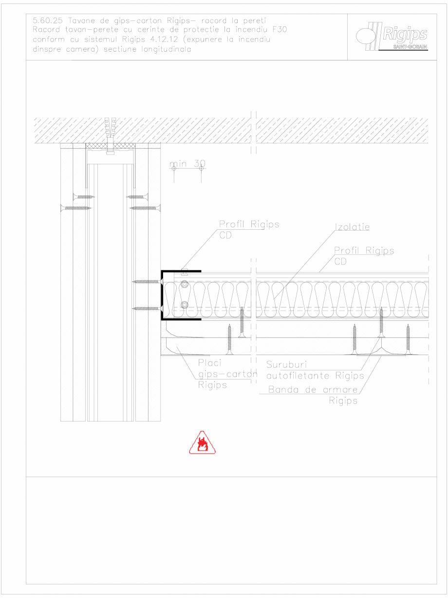 Pagina 1 - CAD-DWG Tavane de gips-carton Rigips- racord la pereti 5.60.25 - foc Saint-Gobain Rigips ...
