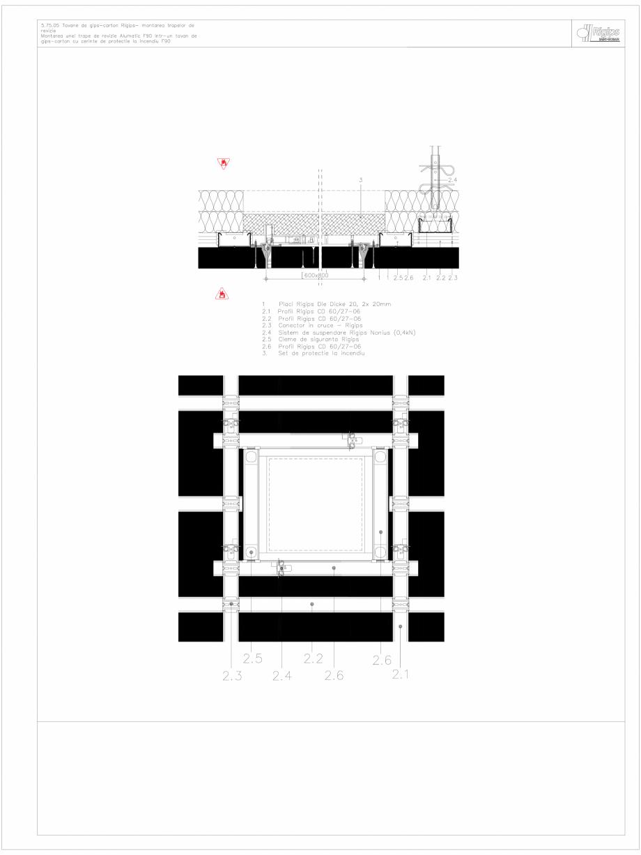 Pagina 1 - CAD-DWG Tavane de gips-carton Rigips- montarea trapelor de revizie 5.75.05 - foc...