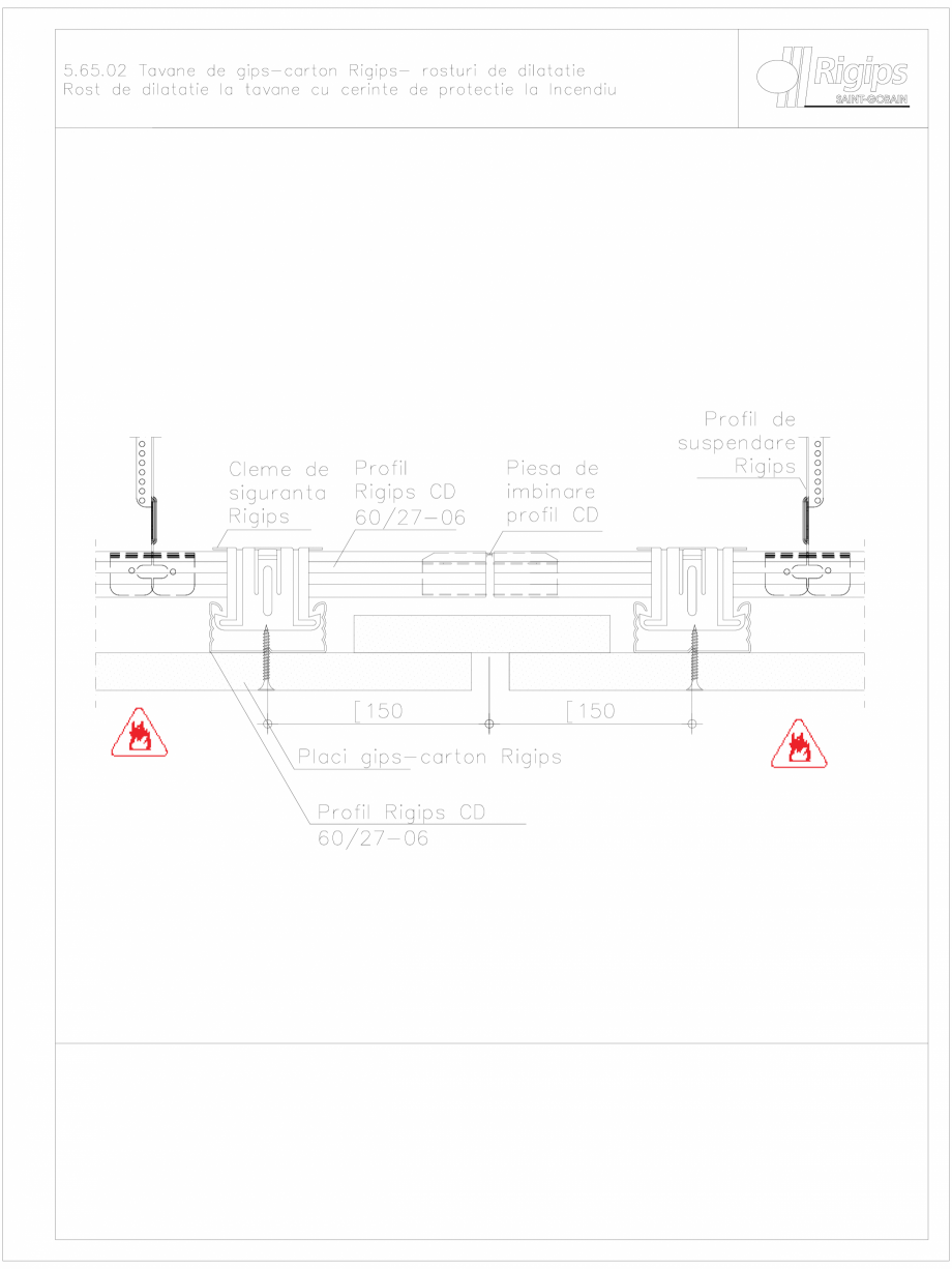 Pagina 1 - CAD-DWG Tavane de gips-carton Rigips- rosturi de dilatatie 5.65.02 - foc Saint-Gobain...