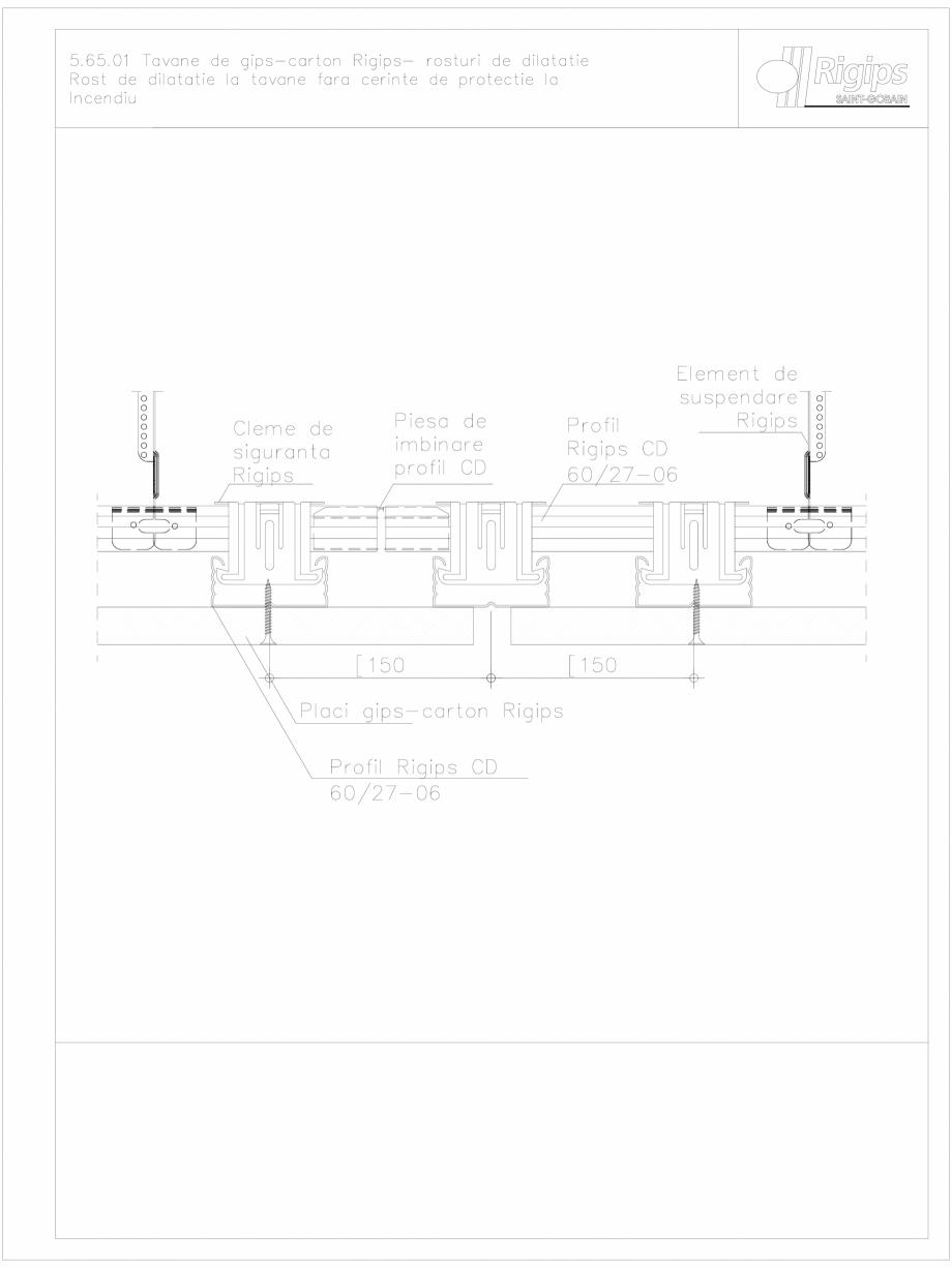 Pagina 1 - CAD-DWG Tavane de gips-carton Rigips- rosturi de dilatatie 5.65.01 - foc Saint-Gobain...