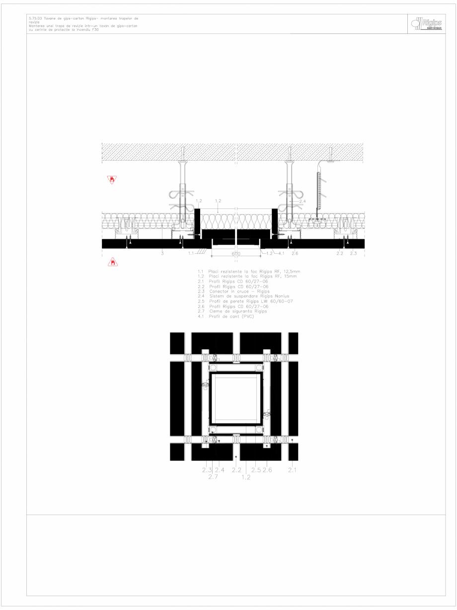 Pagina 1 - CAD-DWG Tavane de gips-carton Rigips- montarea trapelor de revizie 5.75.03 - foc...