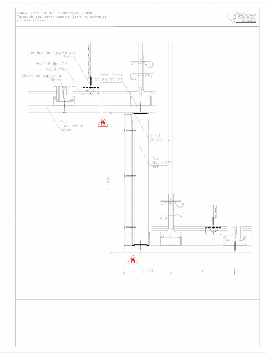 Pagina 1 - CAD-DWG Tavane de gips-carton Rigips- scafe 5.66.01 - foc Saint-Gobain Rigips Detaliu de ...