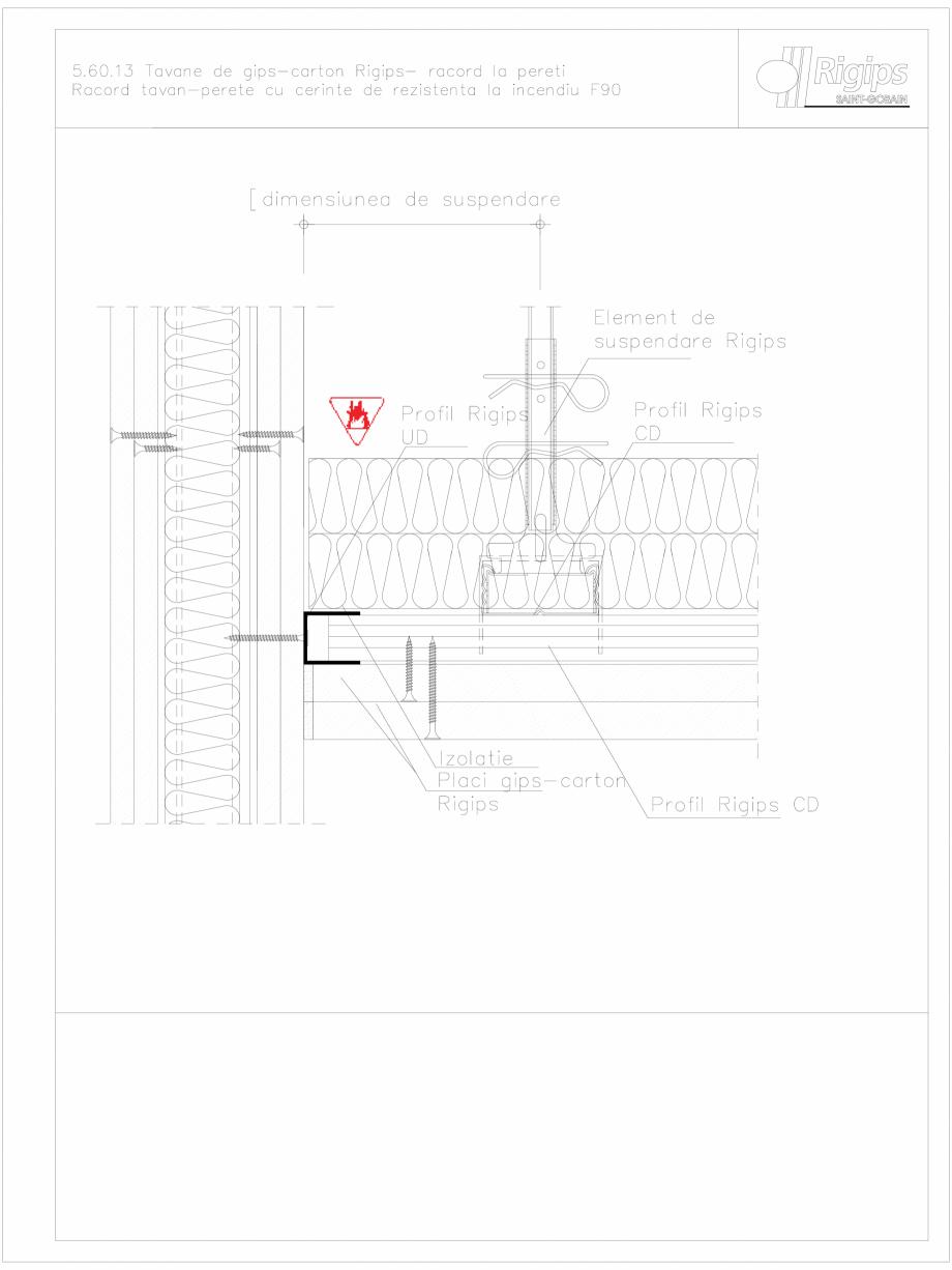 Pagina 1 - CAD-DWG Tavane de gips-carton Rigips- racord la pereti 5.60.13 - foc Saint-Gobain Rigips ...