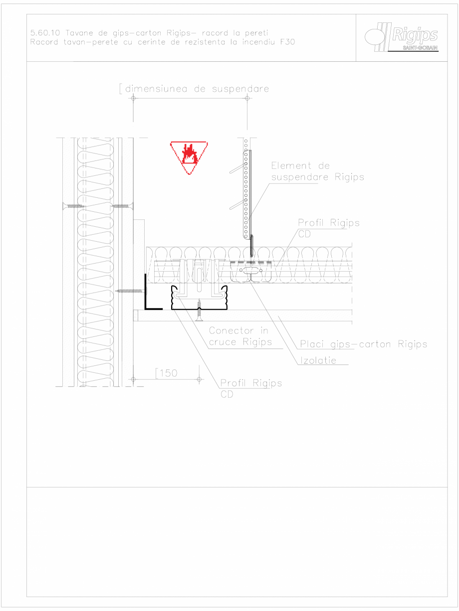 Pagina 1 - CAD-DWG Tavane de gips-carton Rigips- racord la pereti 5.60.10 - foc Saint-Gobain Rigips ...