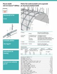 Plafon curb nedemontabil pe structura metalica dubla - 4.10.50 - 2x6 mm