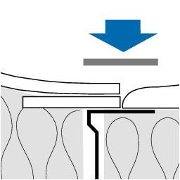 Detaliu montaj Riflex Glasroc F Riflex Placa din ipsos armat cu fibra de sticla