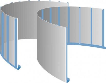 Glasroc F Riflex - perete convex concav Glasroc F Riflex Placa din ipsos armat cu fibra