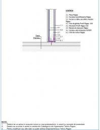Detaliu de legatura cu sapa turnata - Perete cu cerinte scazute de izolare la zgomot