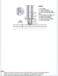 Detaliu de legatura cu sapa turnata - Varianta 3 Placile de gips carton intrerupte in zona