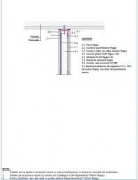 Detaliu de legatura la planseu superior cu tencuiala in strat continuu