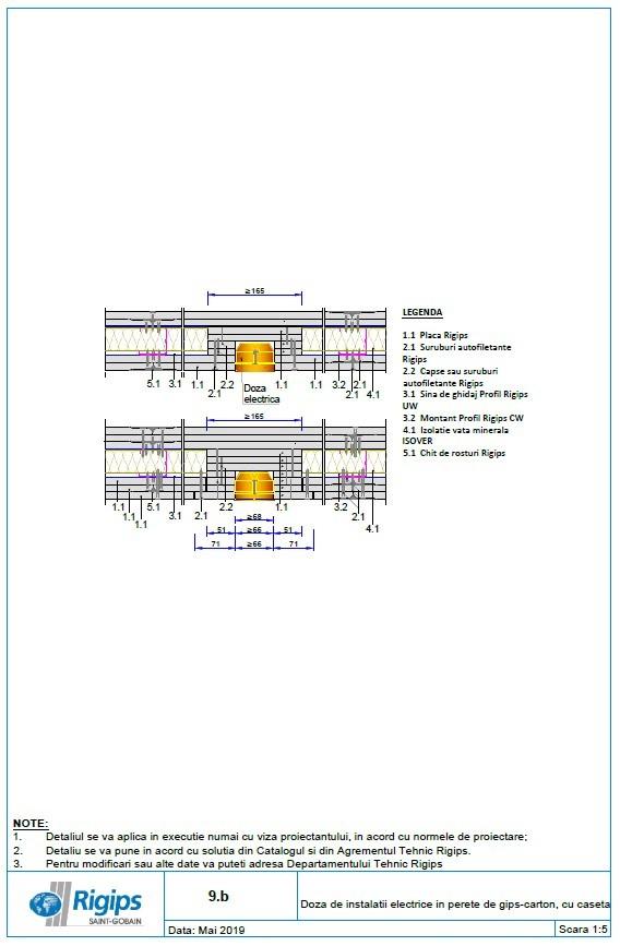 Pagina 1 - CAD-DWG Doza de instalatii electrice in perete de gips carton cu caseta Saint-Gobain...