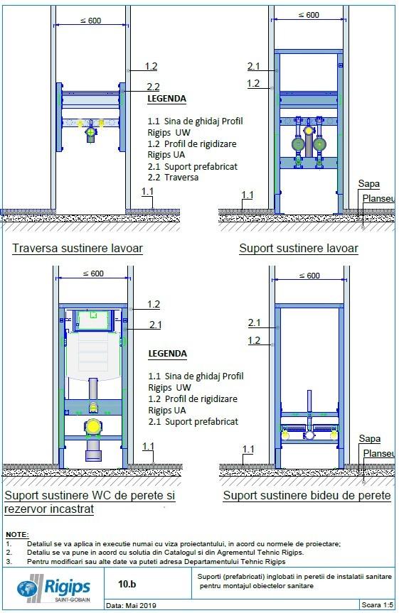 Pagina 1 - CAD-DWG Suporti prefabricati inglobati in peretii de instalatii sanitare pentru montajul ...