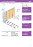 Tencuiala uscata aplicata prin lipire cu adeziv - Rigidur®H- 3 10 50 - 1x10 mm sau