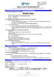Fisa cu date de securitate pentru pulbere de ipsos pentru modelaj Saint-Gobain Rigips - Rigips® Model