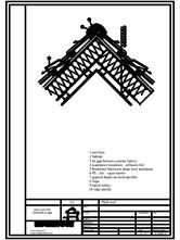 Termoizolarea acoperisului mansardat - detaliu de coama ROCKWOOL