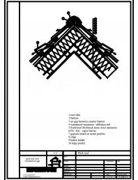 Termoizolarea acoperisului mansardat - detaliu de coama