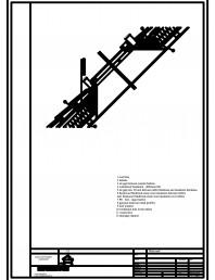 Termoizolarea acoperisului mansardat - detaliu racord cu ferestre de mansarda