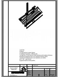 Termoizolarea acoperisului mansardat - detaliu spatiu de ventilare