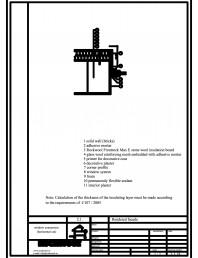 Termoizolarea fatadelor tencuite - detaliu de racord cu tamplarie plana