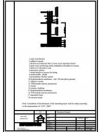 Termoizolarea fatadelor tencuite - detaliu racord cu terasa circulabila
