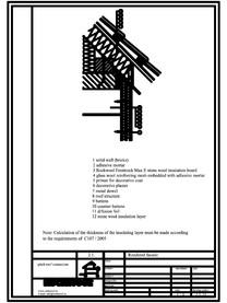 Termoizolarea fatadelor tencuite - detaliu racord la streasina ROCKWOOL