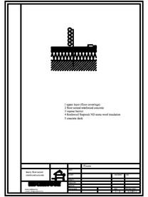 Termoizolarea pardoselilor - detaliu termoizolare pardoseala pe structura beton armat ROCKWOOL