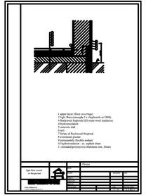 Termoizolarea pardoselilor - detaliu termoizolare, pardoseala asezata pe sol ROCKWOOL