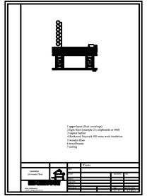 Termoizolarea pardoselilor - detaliu termoizolare, pardoseala pe structura de lemn ROCKWOOL