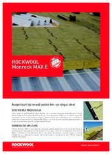 Placi rigide de vata bazaltica pentru izolarea intr-un singur strat a acoperisurilor tip terasa ROCKWOOL
