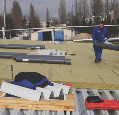 Termoizolatia unei terase cu vata bazaltica DUROCK Placi rigide de vata bazaltica