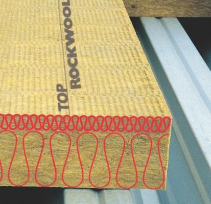 Detaliu placa de vata bazaltica DUROCK Placi rigide de vata bazaltica