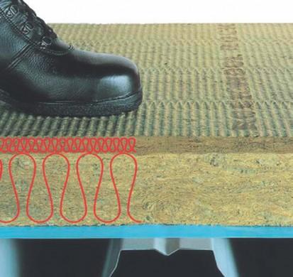 Detaliu placa de vata bazaltica HARDROCK MAX Placi rigide de vata bazaltica